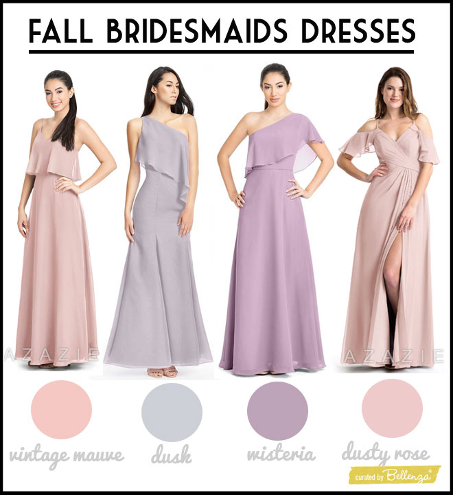 Related hues in mauve, dusty rose, dusk, and wisteria.