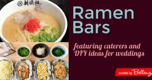Ramen bar wedding ideas