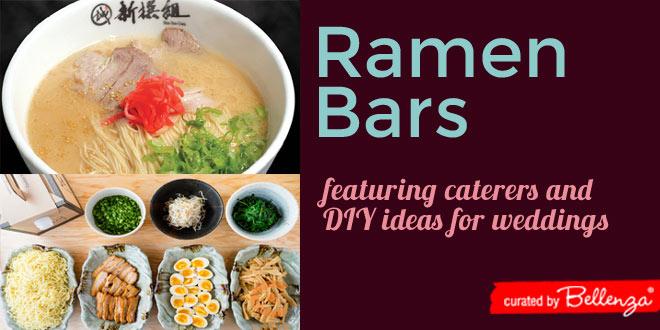 Ramen bar wedding ideas