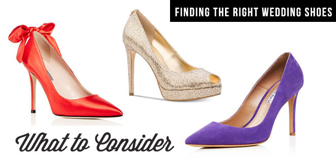 How to find the right wedding shoes