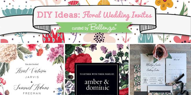 Floral Wedding Invitation Ideas to DIY or Semi-DIY