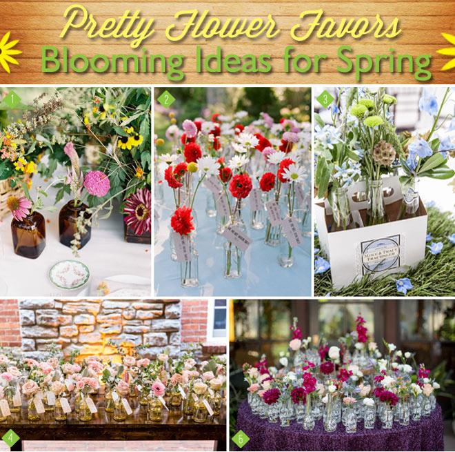 Spring Flowers Favors in Bottles and More