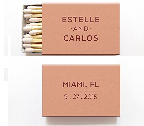 Foil Matchboxes with Personalization via Amazon