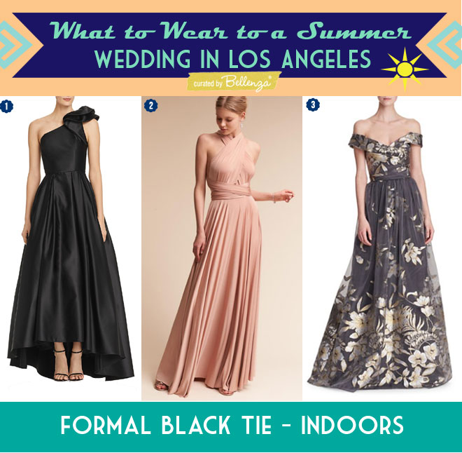 Formal Dresses for an Indoor Black-tie Wedding