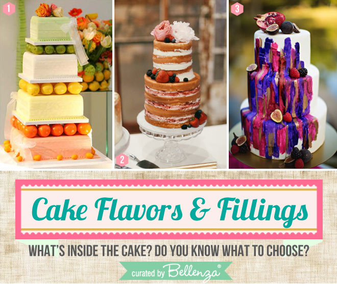Fruit fillings and toppings for wedding cakes