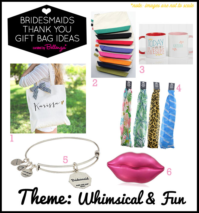 BRIDESMAID BAG THEME: WHIMSICAL AND FUN