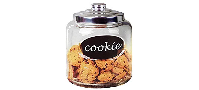 Cookie glass canister with lid
