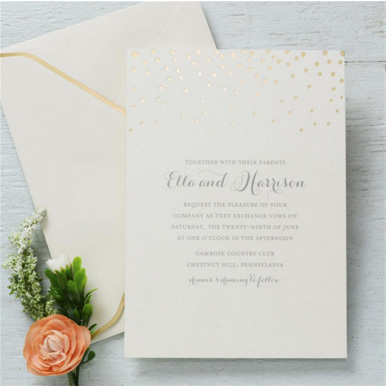 Print your own invitations.