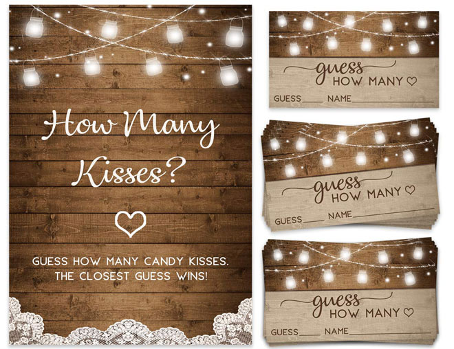 How Many Kisses, Candy Jar Guessing Game,