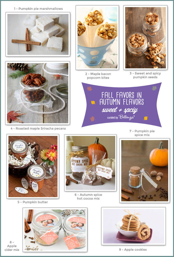 Homemade Fall Favors Made with Sweet and Spicy Autumn Flavors