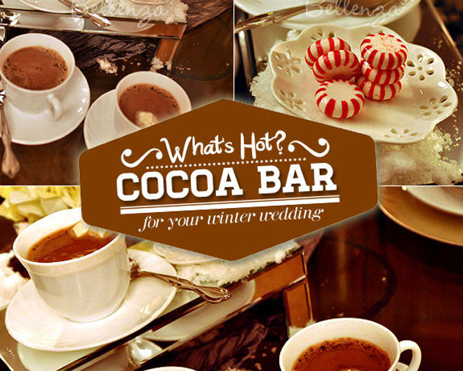Assemble your own self-serve hot cocoa bar.