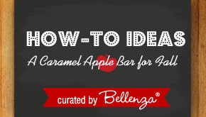 how to assemble a caramel apple bar at your fall wedding