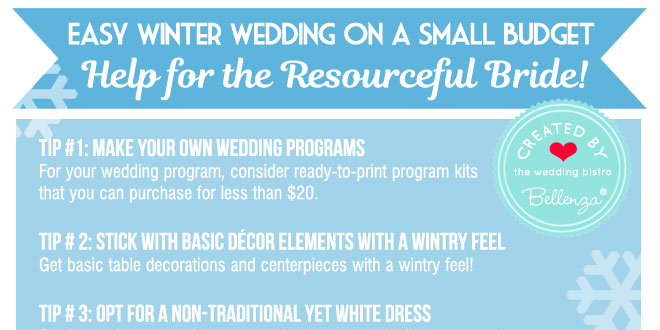 How to plan a small winter wedding ceremony and reception