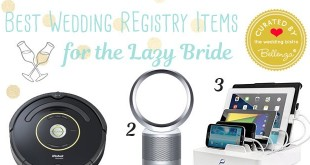 14 wedding registry items for the lazy yet modern bride. Curated by Bellenza.