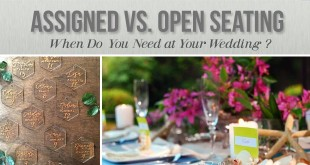 Assigned vs. open seating at a wedding.