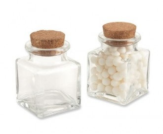 8 - Square Glass Favor Jars