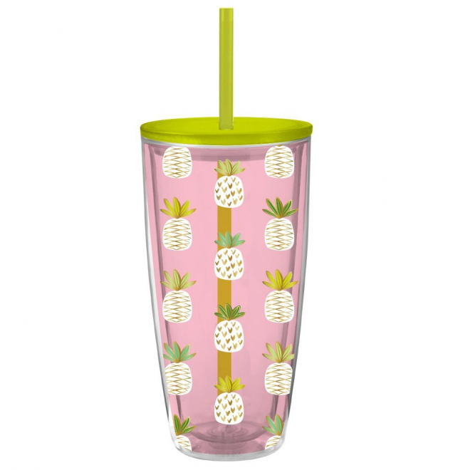 2 - Pineapple Double Wall Insulated Tumbler