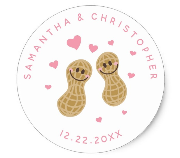 5 - Funny Nuts Wedding Thank You Classic Round Sticker
