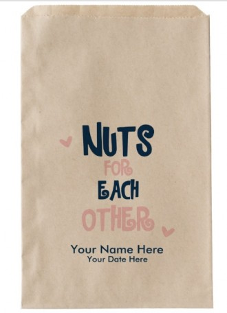 "3 - ""Nuts for Each Other"" favor bags"