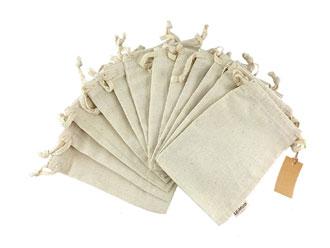 10 - Organic Cotton Reusable Produce Gift Bags