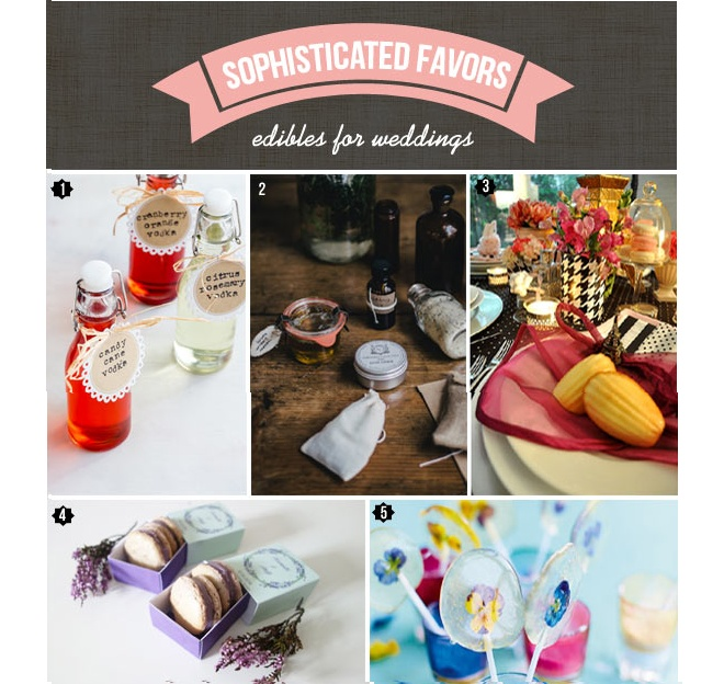 sophisticated edible favors
