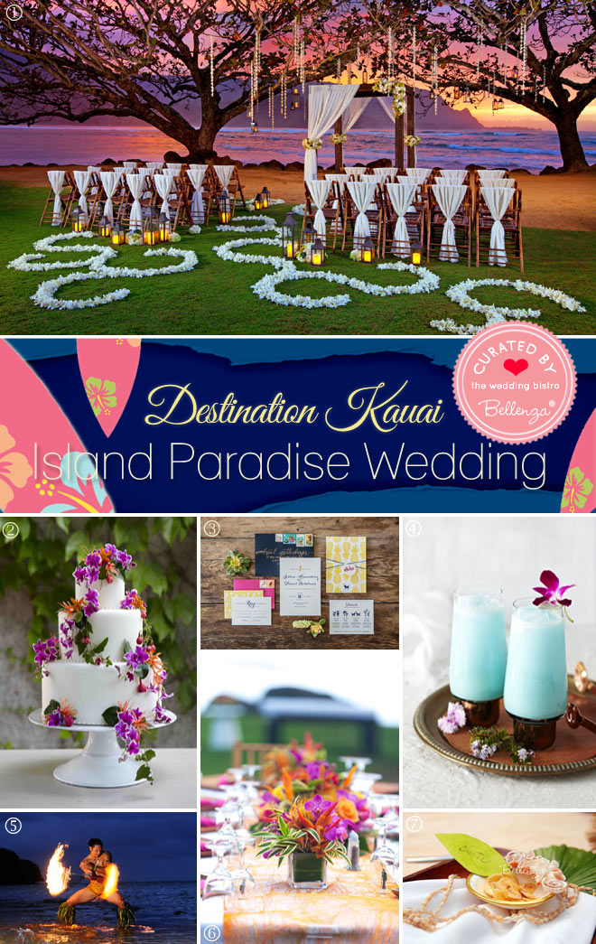 Styling Ideas for an Island Paradise Wedding Inspired by Kauai
