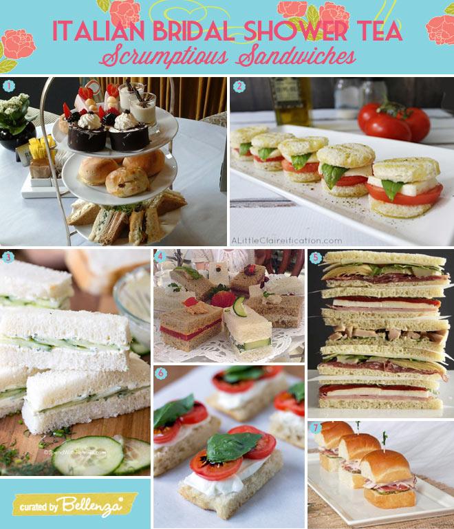italian bridal shower tea food sandwiches