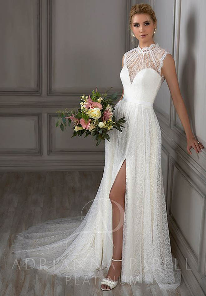"""Juliet"" Adrianna Papell Platinum Wedding Dress, via The Knot"