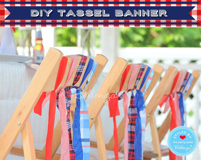 patriotic chair decorations using fabric scraps