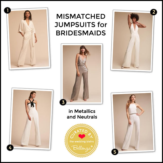 Jumpsuits in Metallics and Neutrals