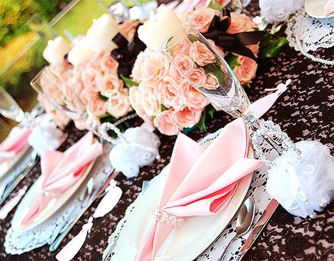 Pink and black wedding color palette