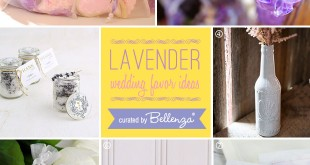 Lovely lavender favors from scented candles to lavender macarons to lavender cookies.