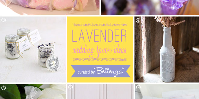 lovely lavender favors from scented candles to lavender macarons to lavender cookies