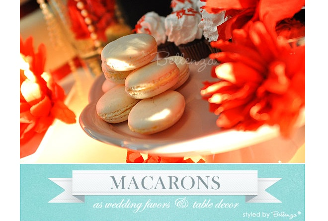 macarons for a winter favor