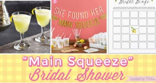 Bridal Shower Details Inspired by Zesty Lemon