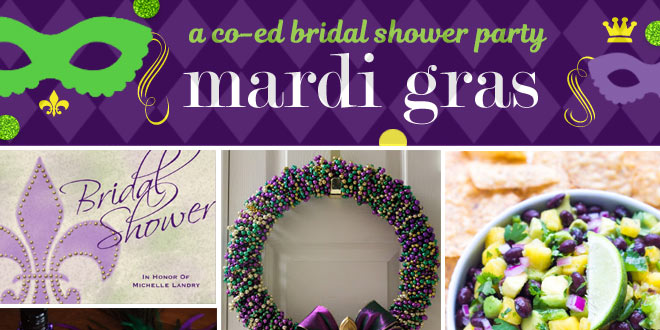 Ideas for planning a Mardi Gras Co-ed Shower