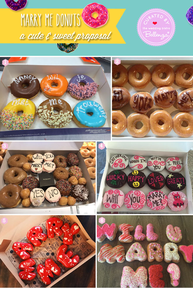 Marry Me donut ideas for sweet proposals from lettered to custom letters.