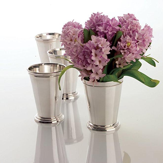 mint julep cups via Twos Company