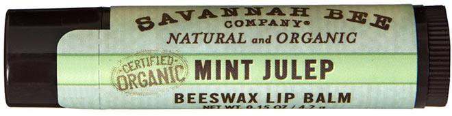 Organic Mint Julep Lip Balm (Savannah Bee Company Certified