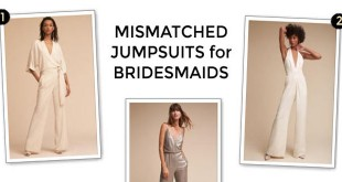 Mismatched bridesmaids jumpsuits
