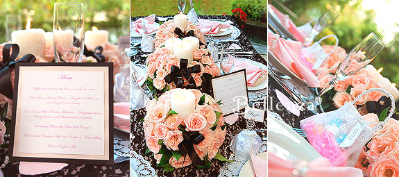 Modern vintage table decorations and menu