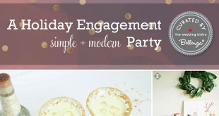 Modern Holiday Engagement Party at Home