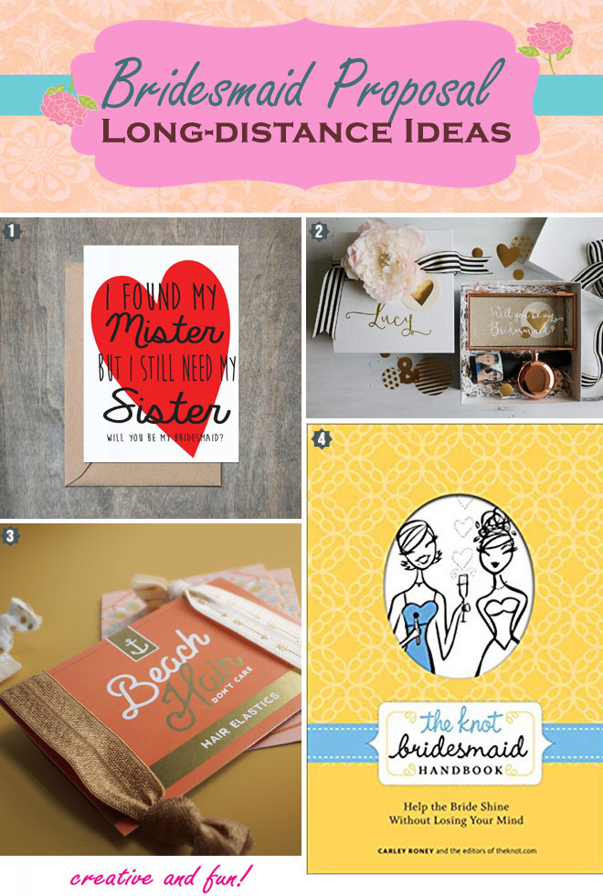 Long distance bridesmaid proposal ideas that are modern.