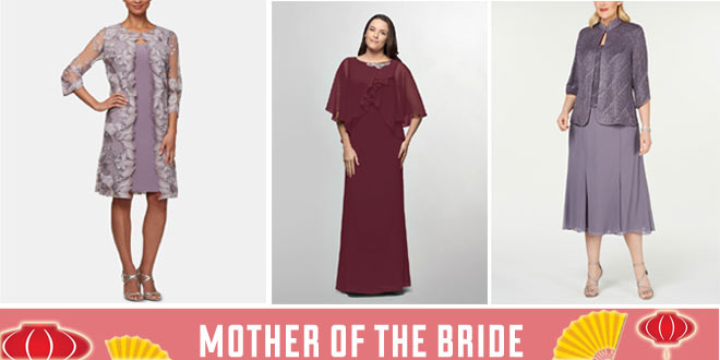 Mother of the Bride Dresses for a Chinese Wedding