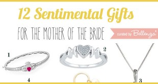 Thoughtful Mother of the bride gifts from personalized jewelry to engraved keepsake boxes.