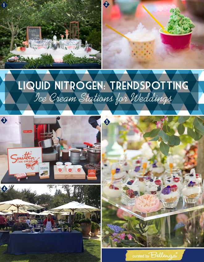 Rustic, Retro, or Garden Wedding Look Liquid Nitrogen Ice Cream bar