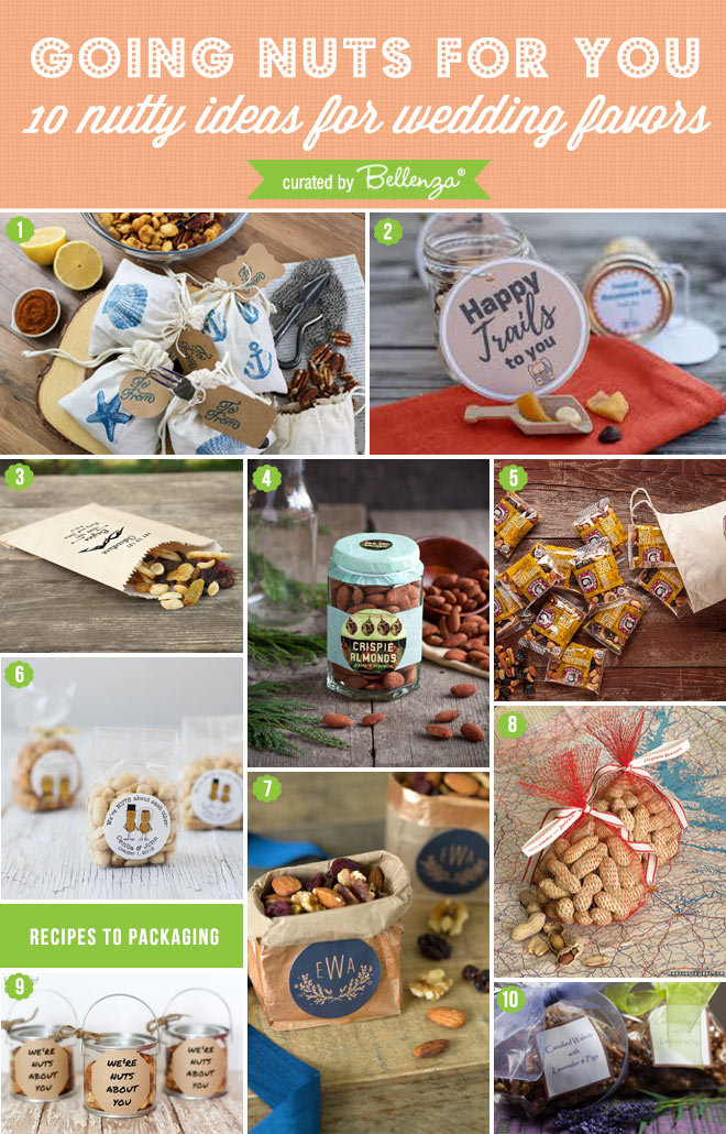 wedding favor nuts recipes and favor packaging