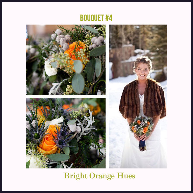 Bouquet #4 in Bright Orange Hues