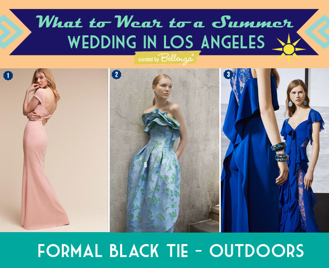 Formal Dresses for an Outdoor Black-tie Wedding