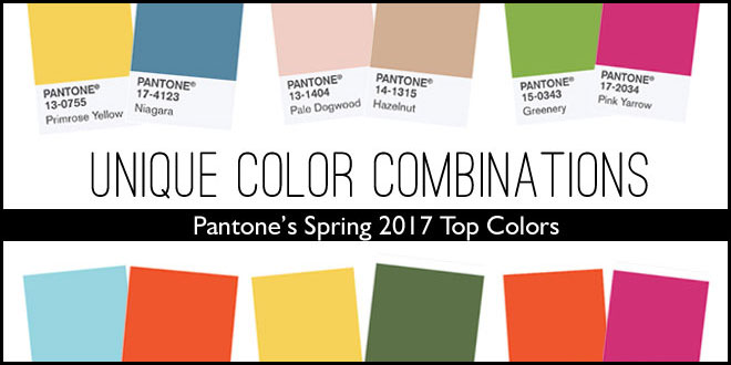 unique wedding color combinations using pantone's spring 2017 top